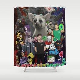 Super Duper Awesome JackSepticEye Poster Shower Curtain