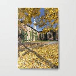 Nassau Hall Autumn Scenic Metal Print