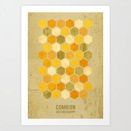 Comb on Bee happy Art Print