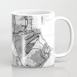 Vintage Map of Hawaii Island (1906) BW Coffee Mug