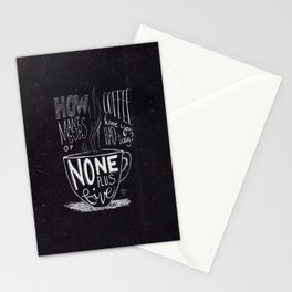 None Plus Five Stationery Cards