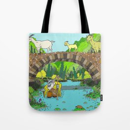 Three Billy Goats Gruff (color) Tote Bag