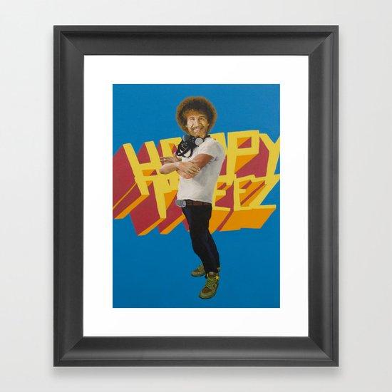 Hip Hop x Bob Ross Framed Art Print