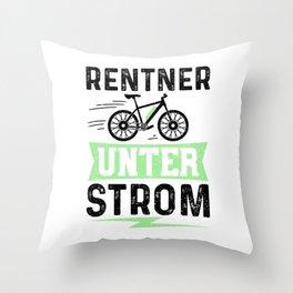 Rentner Unter Strom Throw Pillow