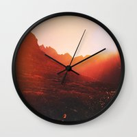 mars Wall Clocks featuring Mars. by Daniel Montero