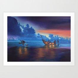 Sea Lantern Balance Art Print