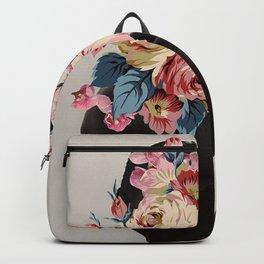 Black of flowers Backpack