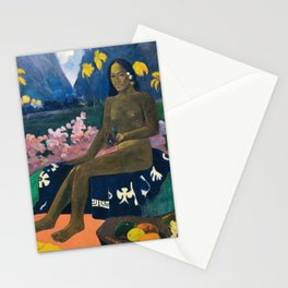 The Seed of the Areoi by Paul Gauguin Stationery Cards