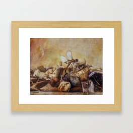 Respite of the Mosquito Hawk Framed Art Print