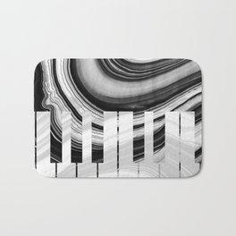 Marbled Music Art - Piano Keys - Sharon Cummings Bath Mat