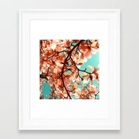 magnolia Framed Art Prints featuring magnolia by blackpool