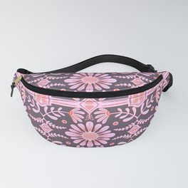 Boho Florals Pink Red Purple Fanny Pack
