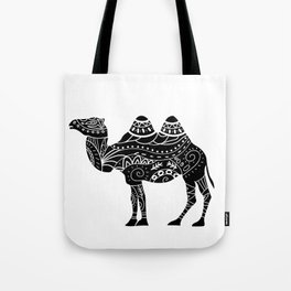 camel silhouette with tribal ornaments Tote Bag