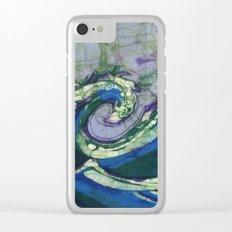 Batik waves 2 Clear iPhone Case