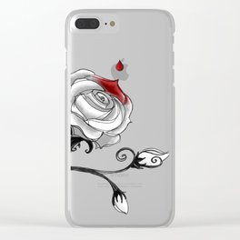 'Painting The Roses Red...' Clear iPhone Case