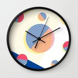 Japanese Patterns 01v Wall Clock