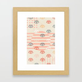 honest eyes Framed Art Print