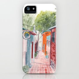 Korean Street Watercolor Illustration iPhone Case