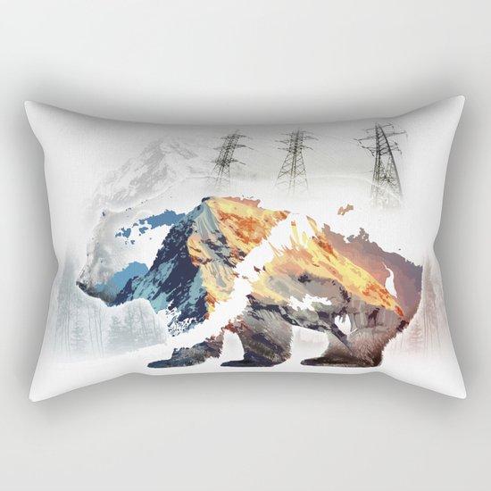 Save bears in nature Rectangular Pillow