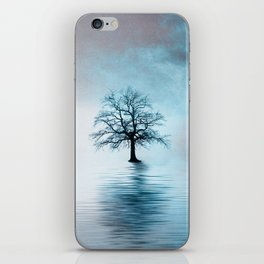 Standing in the rain iPhone Skin