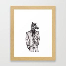 Zebra Man Framed Art Print