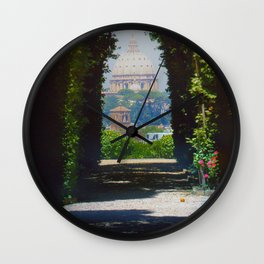 Panoramic Shot featuring three countries Wall Clock