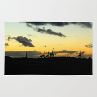 industrial Area & Throw Rugs featuring Industrial by MKMalesevich