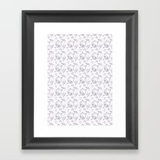 space kid pattern Framed Art Print