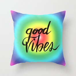 Good Vibes - Rainbow Pride Throw Pillow