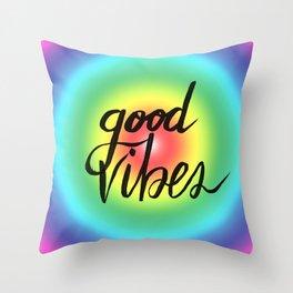 Good Vibes - Rainbow Pride Throw Pillow