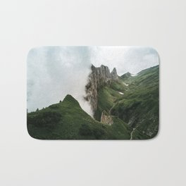 Foggy mountain ridge in Switzerland - Landscape Photography Bath Mat