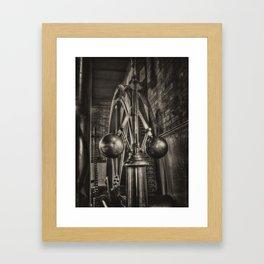 Steam engine governors - mono Framed Art Print