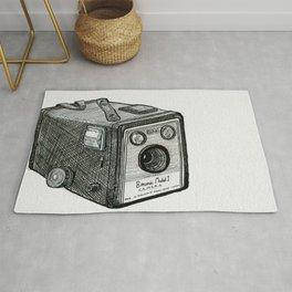Kodak Box Brownie Camera Illustration Rug