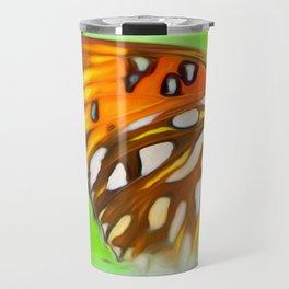 Orange Butterfly Wing Travel Mug