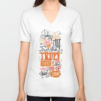 dr seuss V-neck T-shirts featuring TODAY YOU ARE YOU... - DR. SEUSS by Matthew Taylor Wilson