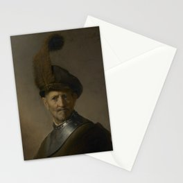 An Old Man in Military Costume Stationery Cards