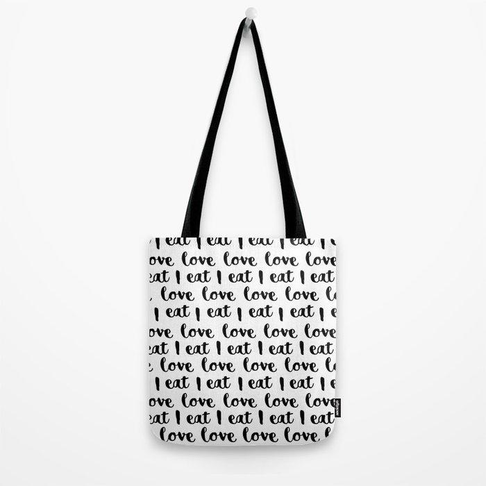 I love eat pattern Tote Bag