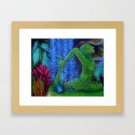 Balance Series - Deep Underwater Framed Art Print