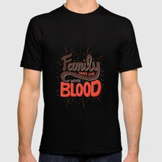 Family Don't End With Blood Mens Fitted Tee Black MEDIUM