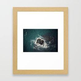 ocean loves you Framed Art Print