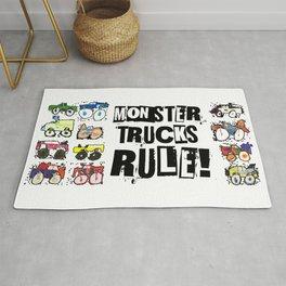 Monster Truck Kid Art by Tucker Rug