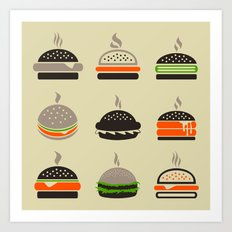 Hamburger2 Art Print