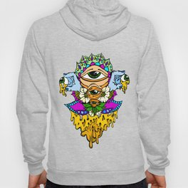 Open Your Eyes Psychedelic Illustration Hoody
