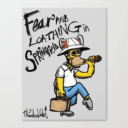 Fear and Loathing in Springfield Canvas Print