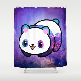 Kawaii Galactic Mighty Panda Shower Curtain