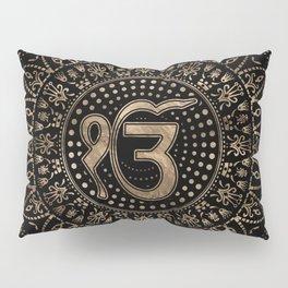 Ek Onkar / Ik Onkar Black and Gold #1 Pillow Sham