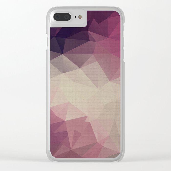 Polygon pattern . Triangles with a texture craquelure . Clear iPhone Case