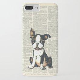 Boston Terrier Vintage Puppy iPhone Case
