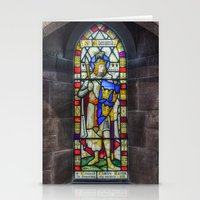 stained glass Stationery Cards featuring Stained Glass by Ian Mitchell