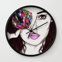 marina Wall Clocks featuring Marina  by annelise johnson